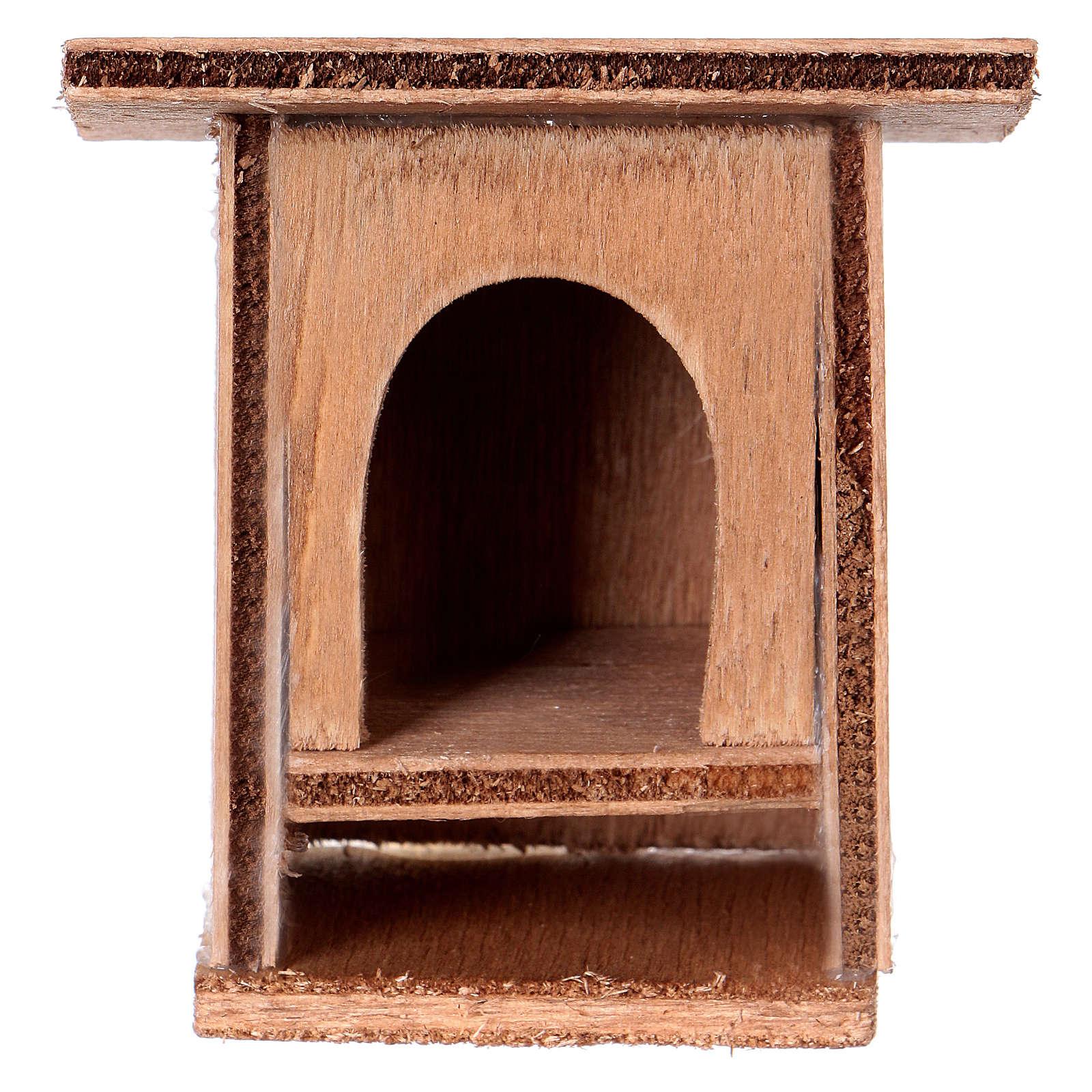 Conigliera 8-10 cm per presepe in legno da decorare 3