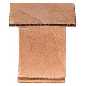 Conigliera 8-10 cm per presepe in legno da decorare s3