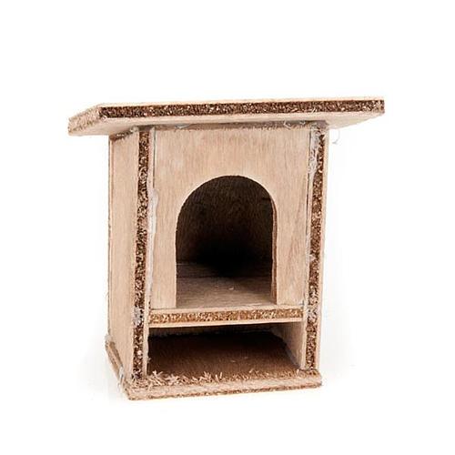 Conigliera 8-10 cm per presepe in legno da decorare 1