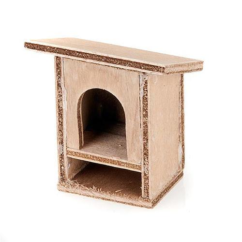 Conigliera 8-10 cm per presepe in legno da decorare 2