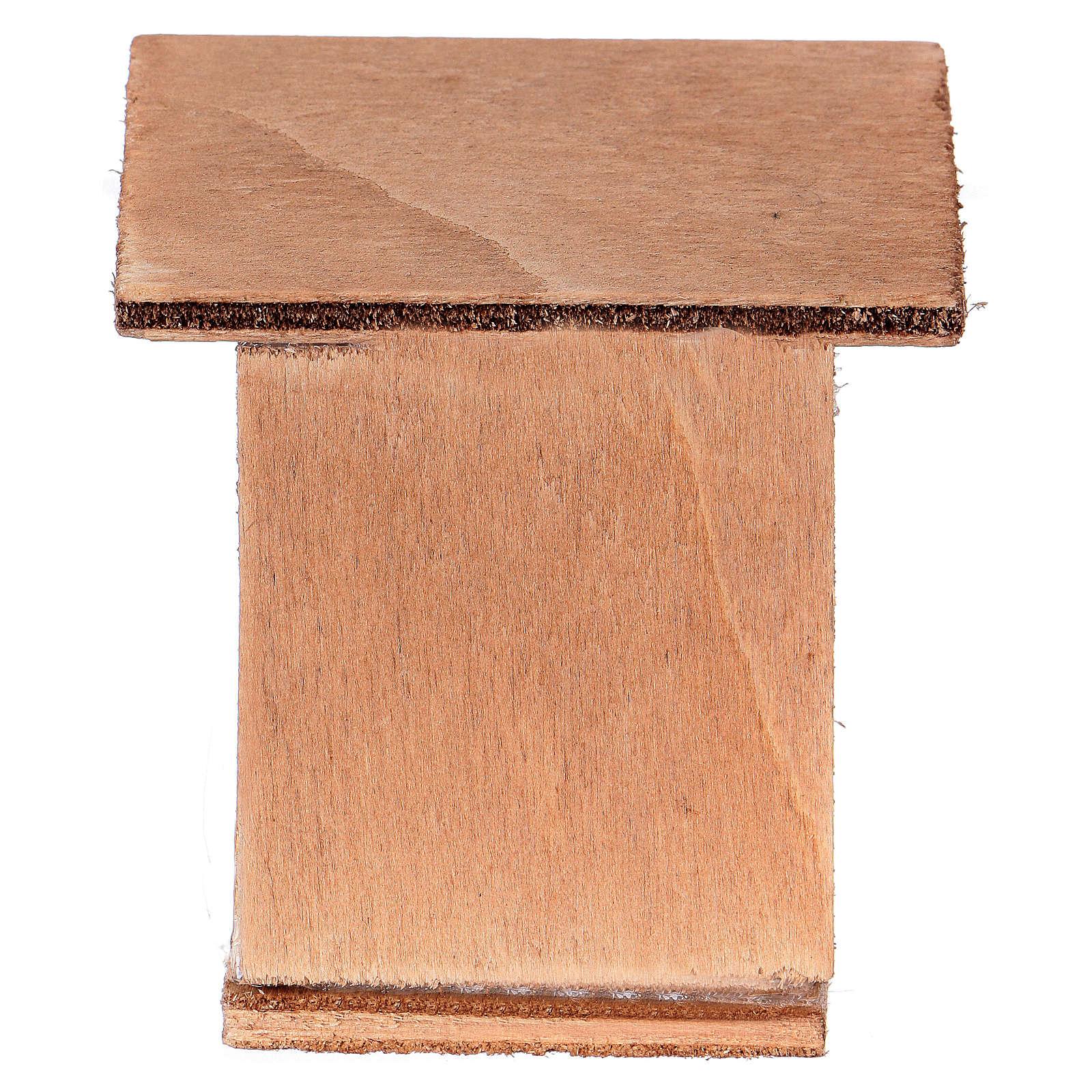 Klatka dla królików 8-10 cm do szopki z drewna do dekoracji 3