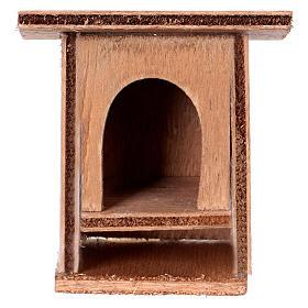Klatka dla królików 8-10 cm do szopki z drewna do dekoracji s1
