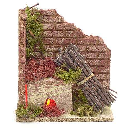 Horno de madera a batería para pesebres 1