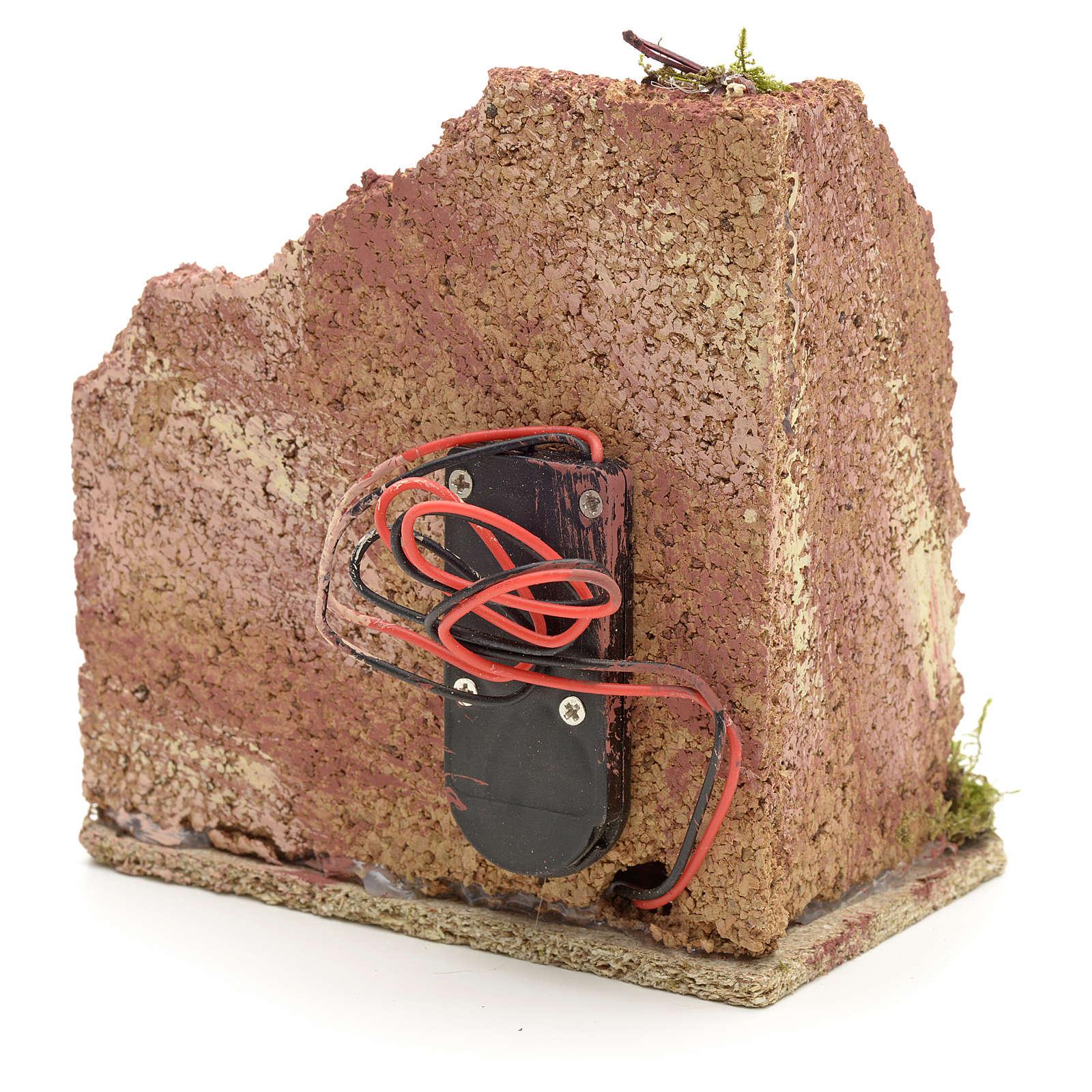 Forno presepe in legno a batteria 10x10x6 4