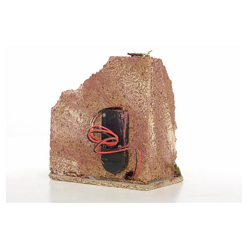 Forno presepe in legno a batteria 10x10x6 6