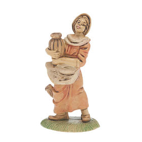 Nativity set accessory, 2-piece Young shepherdess figurines s1
