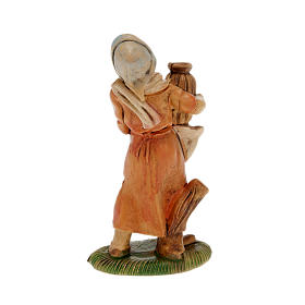 Nativity set accessory, 2-piece Young shepherdess figurines s2