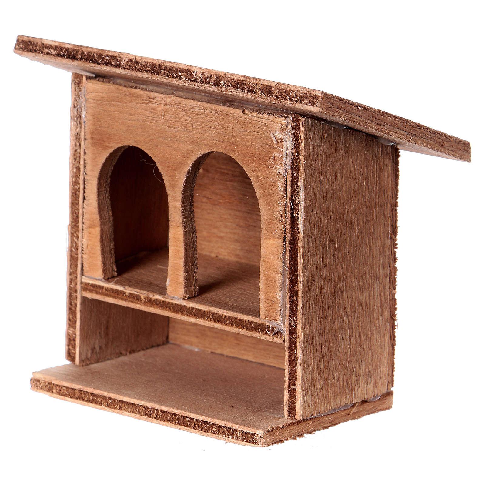 ESTOCK Doble conejera para el pesebre en madera 3
