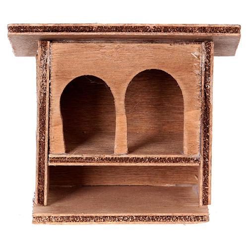 ESTOCK Doble conejera para el pesebre en madera 1