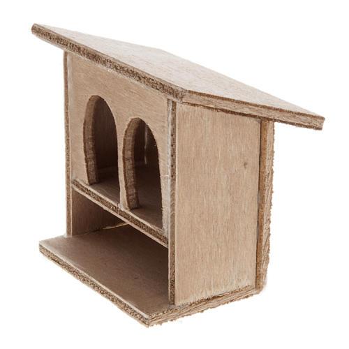 STOCK Conigliera doppia presepe in legno 8-10 cm 2