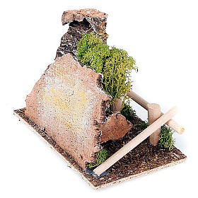 Nativity set accessory, fence and tree diorama s3