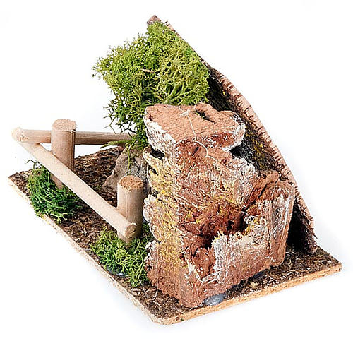 Nativity set accessory, fence and tree diorama 2