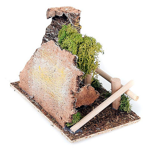 Nativity set accessory, fence and tree diorama 3