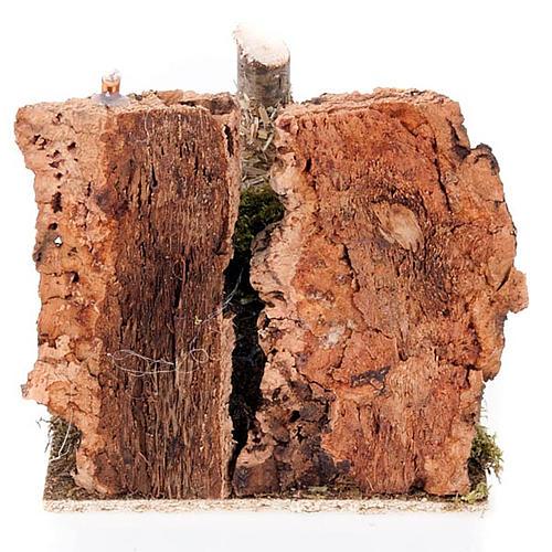 Ambiente presepe fienile con rastrello e attrezzi 2