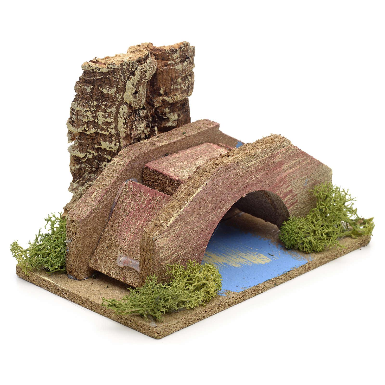 Ambiente presepe ponte su ruscello 4