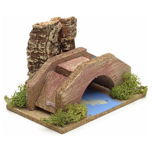 Ambiente presepe ponte su ruscello 2