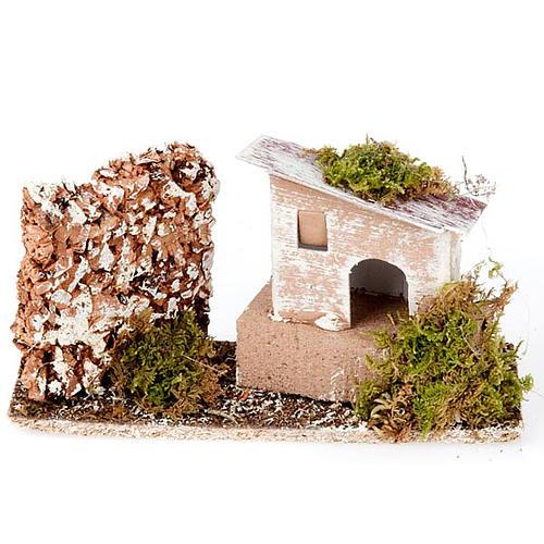 Milieu crèche maison et mur en liège 1