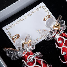 Angioletti vetro veste rossa set 4 pz. addobbi Natale s2