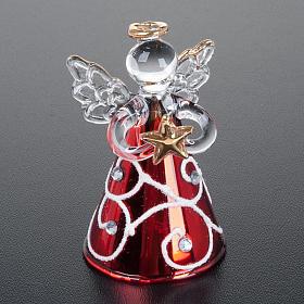 Angioletti vetro veste rossa set 4 pz. addobbi Natale s5
