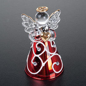 Angioletti vetro veste rossa set 4 pz. addobbi Natale s6