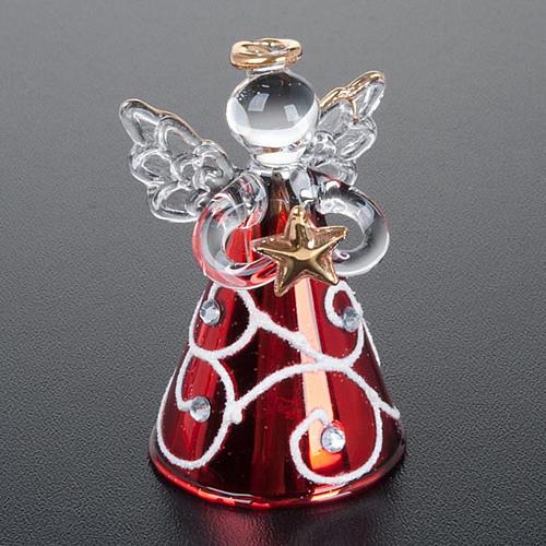 Angioletti vetro veste rossa set 4 pz. addobbi Natale 5