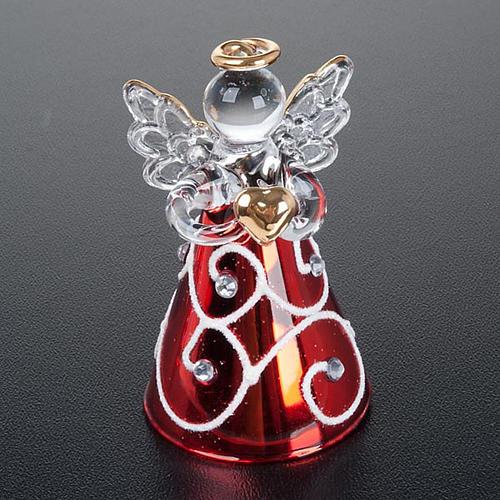 Angioletti vetro veste rossa set 4 pz. addobbi Natale 6