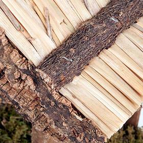 Capanna presepio legno sughero muschio 35X20X24 s2