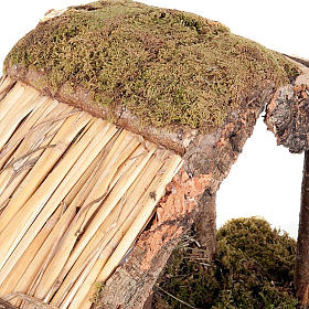 Capanna presepio legno sughero muschio 35X20X24 s4