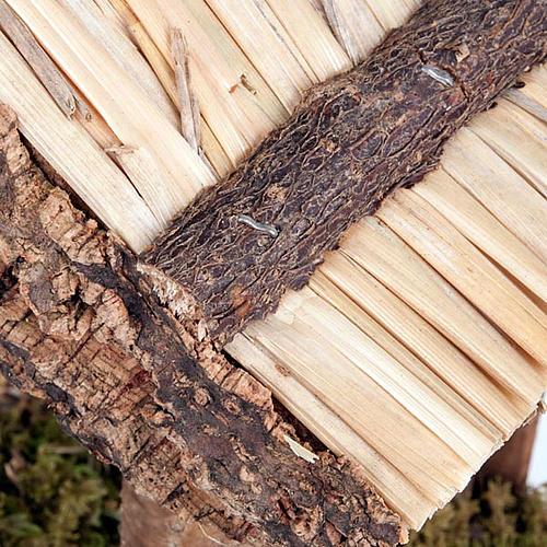 Capanna presepio legno sughero muschio 35X20X24 2