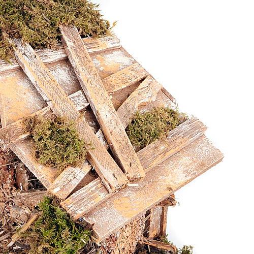 Capanna presepe con fienile effetto antico 43X24X25 3