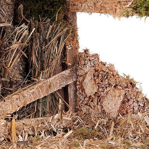Capanna presepe con fienile effetto antico 43X24X25 5