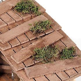 Capanna presepe muro intonacato e attrezzi lavoro 35X20X24 s3