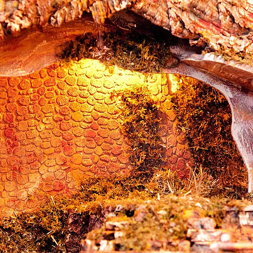 Capanna presepe legno muschio e sughero 100X50X50 4