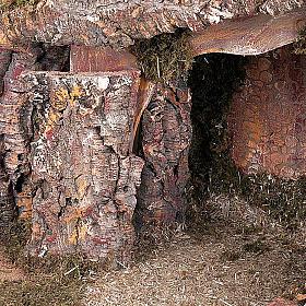 Capanna presepe legno muschio e sughero 100X50X50 s5