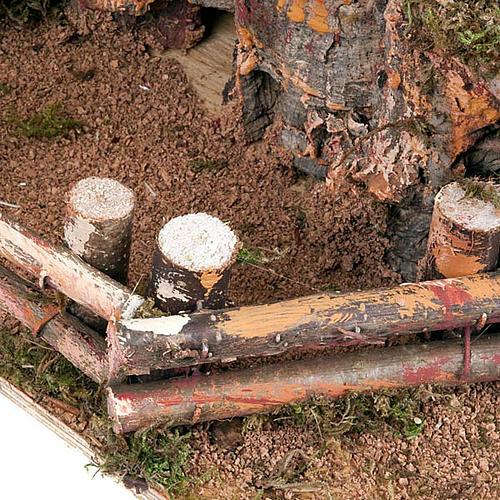 Capanna presepe legno muschio e sughero 100X50X50 3