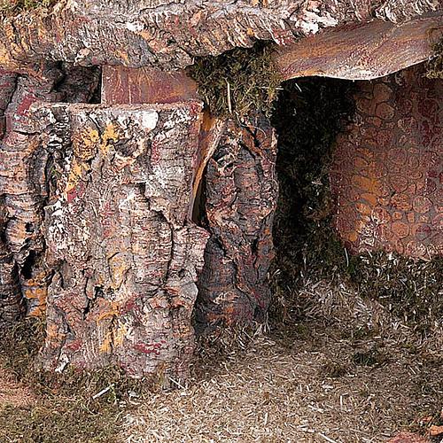 Capanna presepe legno muschio e sughero 100X50X50 5