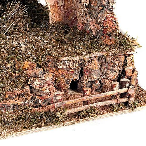 Capanna presepe legno muschio e sughero 100X50X50 6