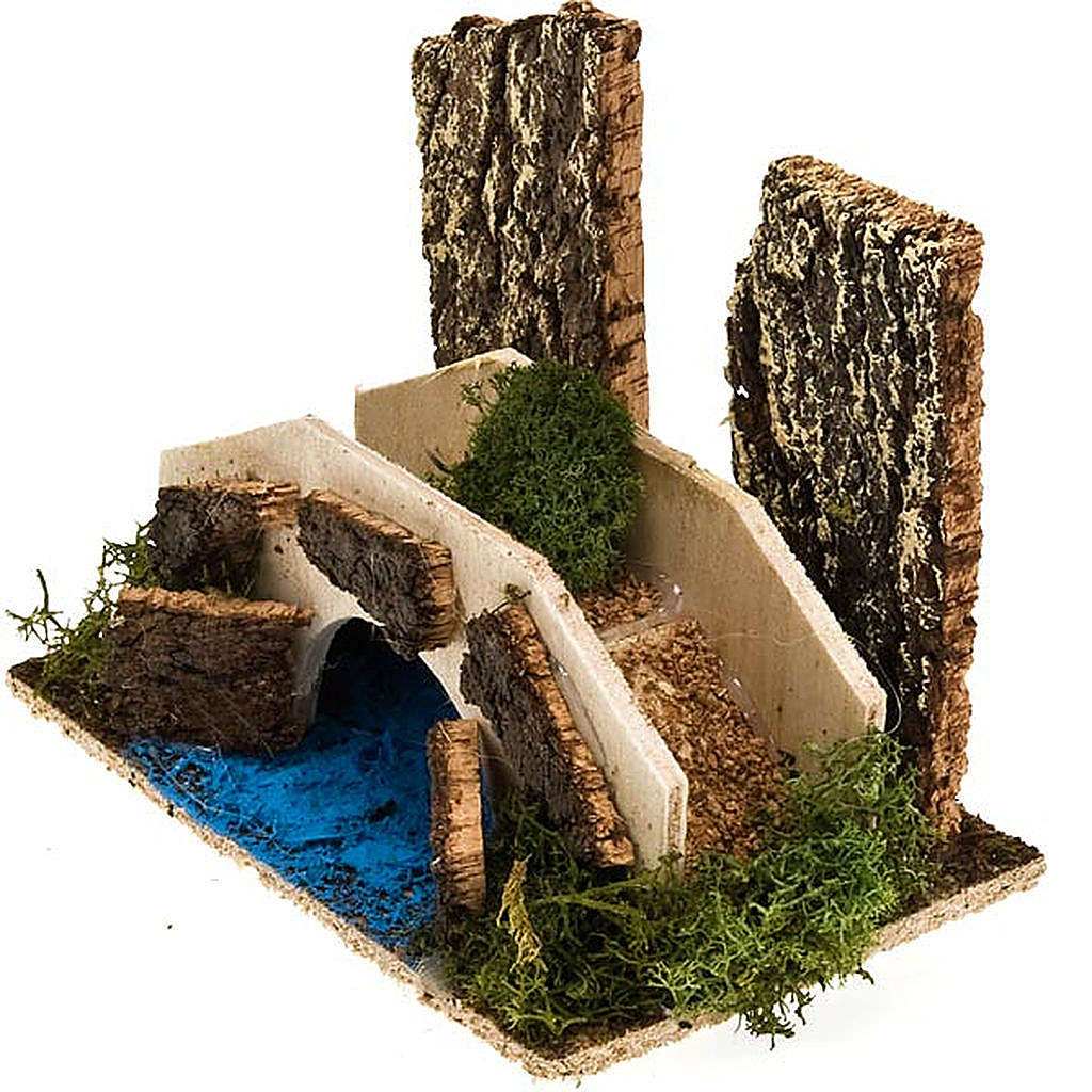 Nativity set accessory, bridge over stream 4