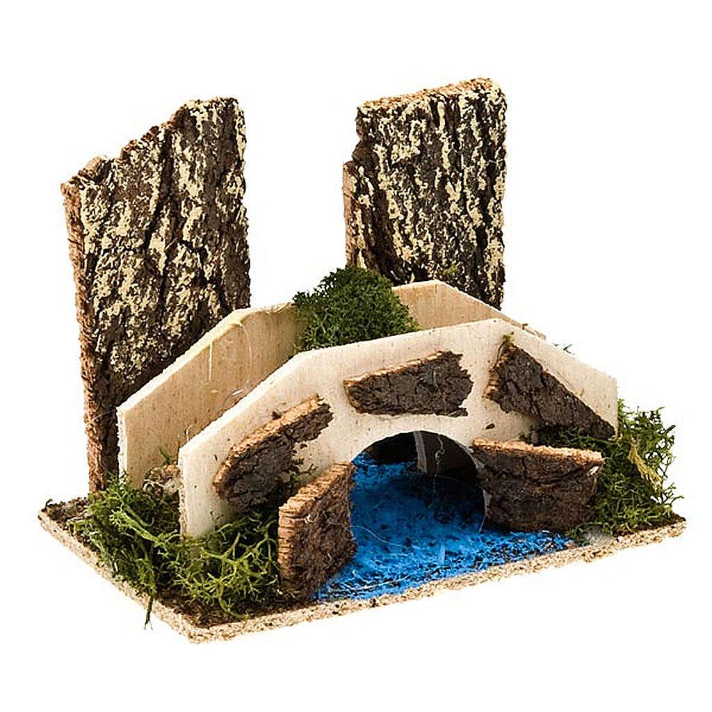 Puente belén con rio ambientación belén 4