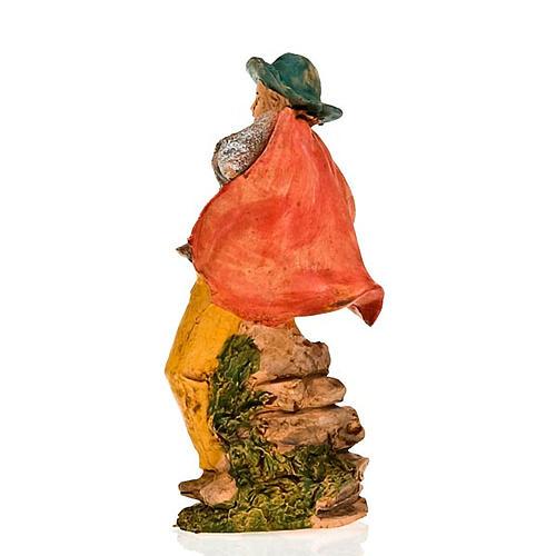 Pifferaio con mantello 13 cm 2