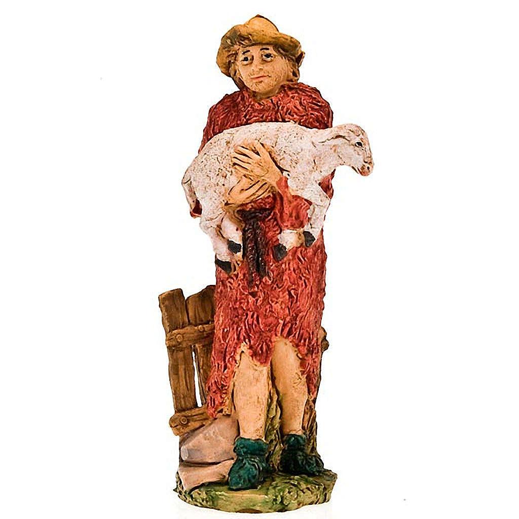 Pastore con pecora in braccio 13 cm 3