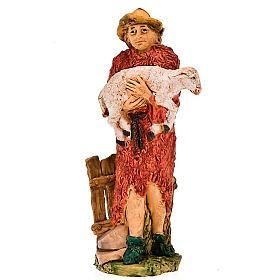 Pastore con pecora in braccio 13 cm s1