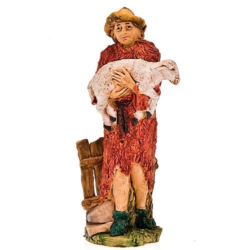 Pastore con pecora in braccio 13 cm 1