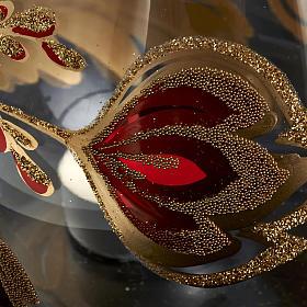 Portacandela natalizio bicchiere tagliato vetro s3