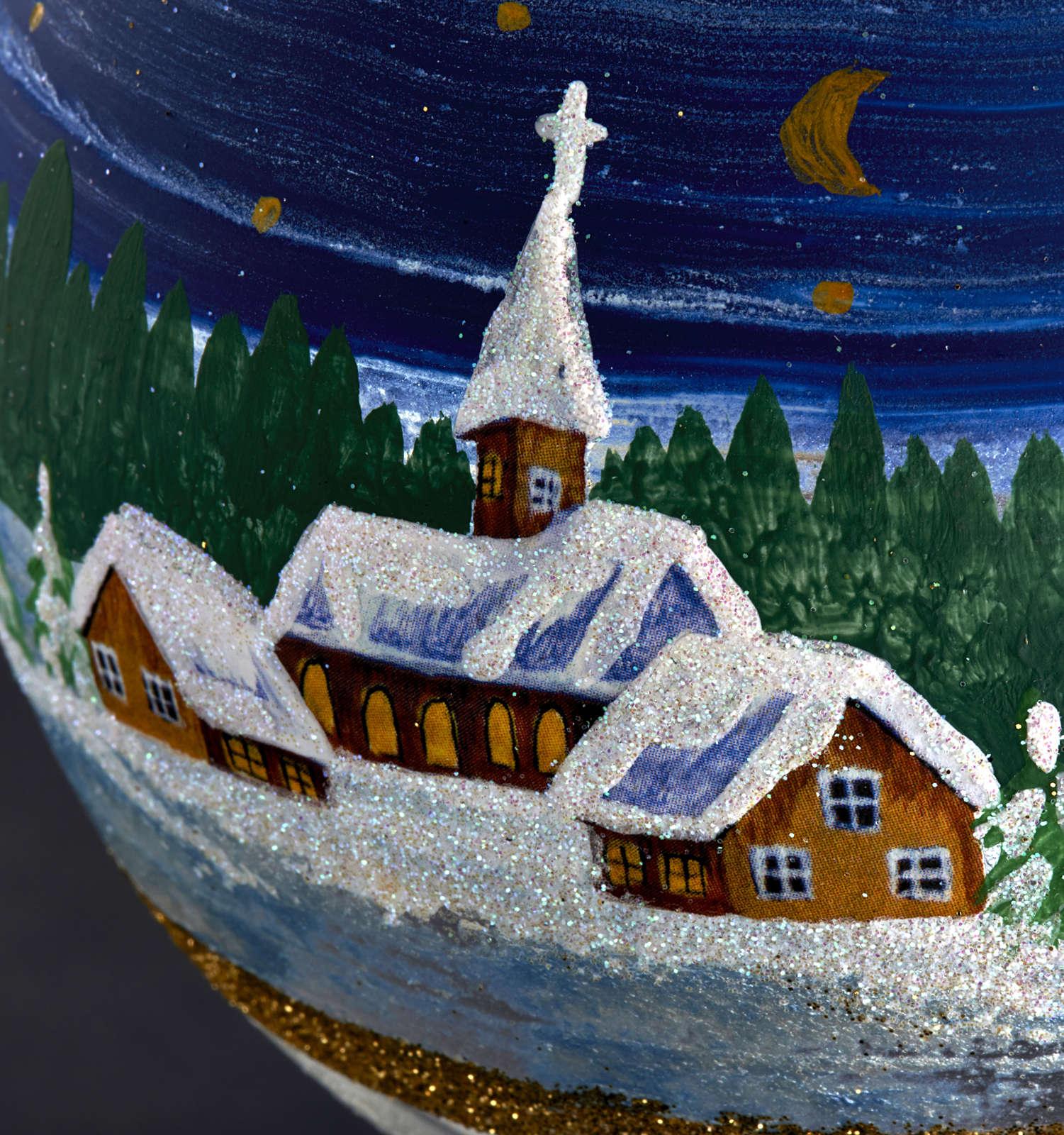 Porta vela de Navidad pintado en vidrio soplado 3