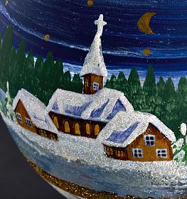 Porta vela de Navidad pintado en vidrio soplado s4
