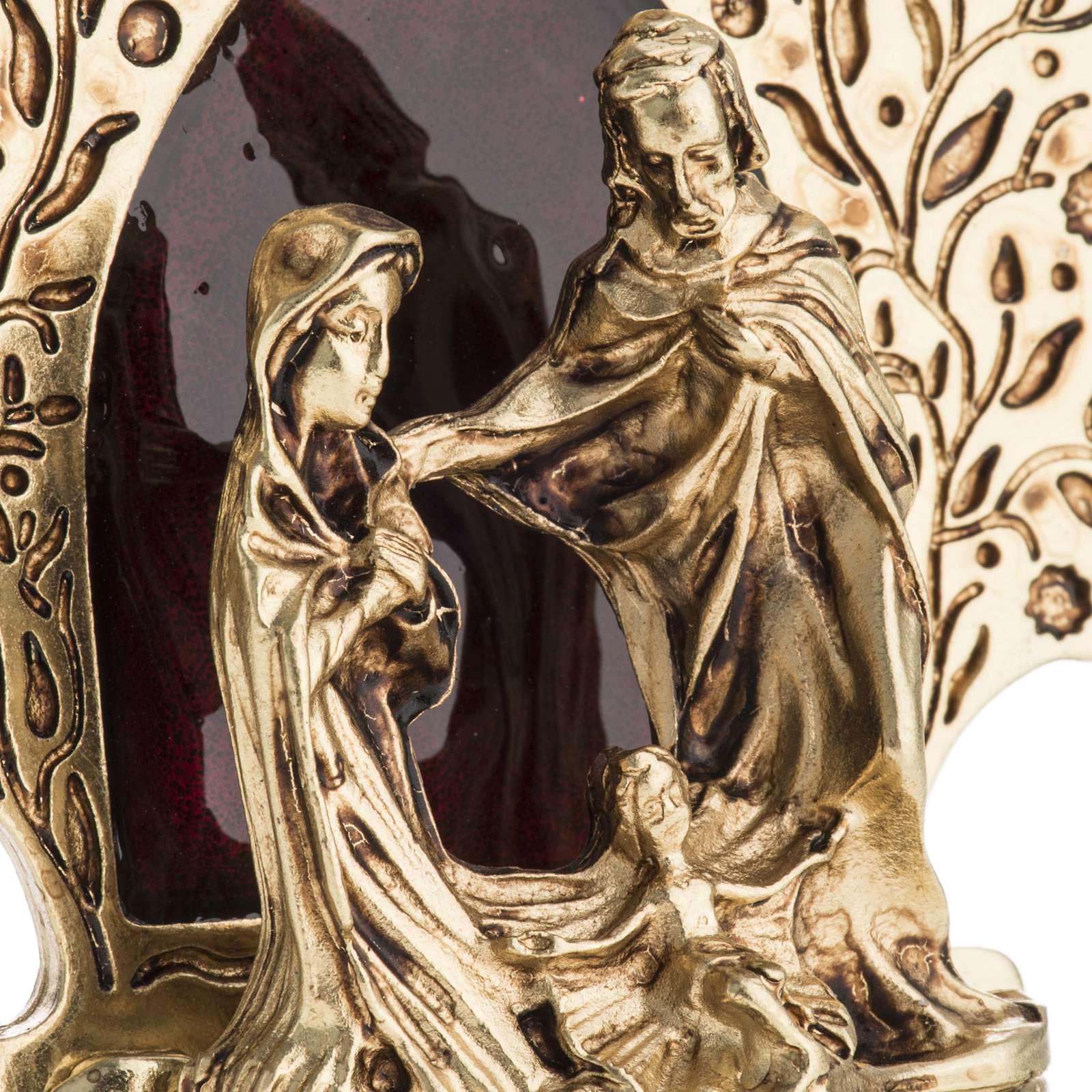 Nativity with tree 9x7.5cm 3