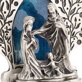 Nativity with tree 9x7.5cm s4