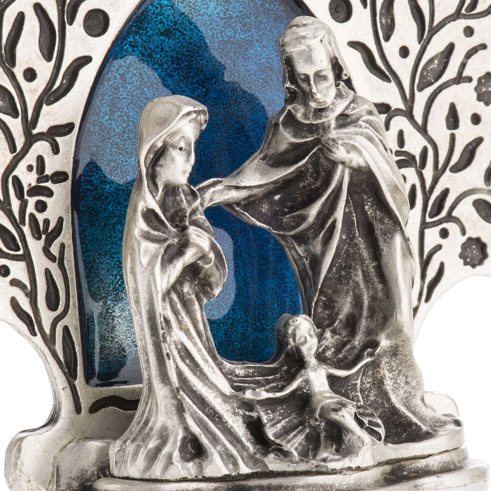 Nativity with tree 9x7.5cm 3
