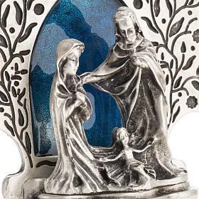 Nativity with tree 9x7.5cm s4